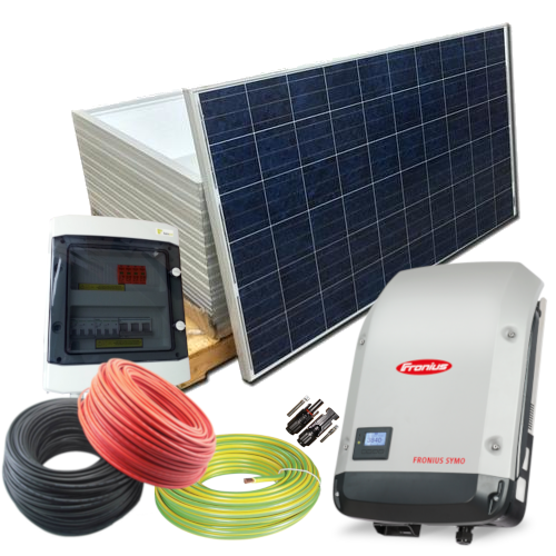 3.24 kW saulės jėgainės komplektas